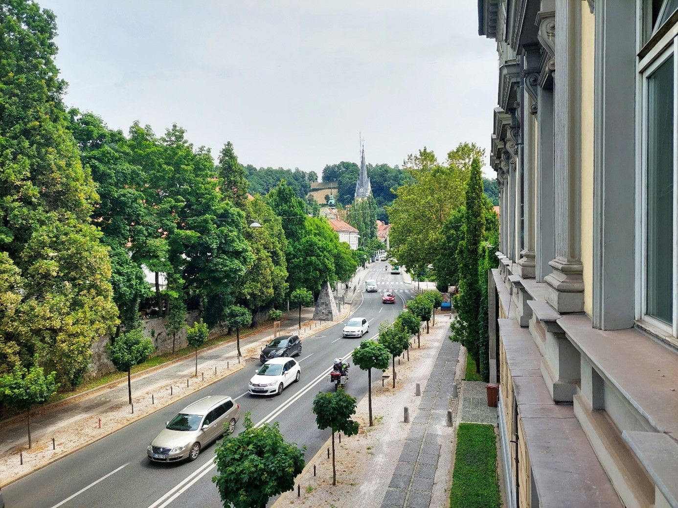 Picture 2: During the covid19 crisis, traffic on Zoisova Street decreased significantly, while in the pre-crisis period the number of vehicles reached almost 20,000 per day.